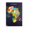 Tableau carte d'Afrique en puzzle fait main