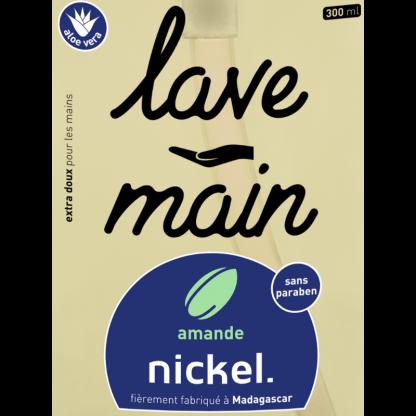 étiquette lave main amande 300ml