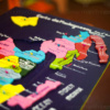 Tableau carte de Madagascar en puzzle fait main