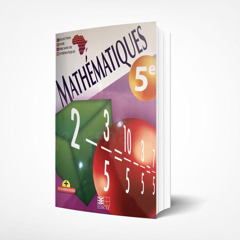 Mathématiques 5ème   Version française   Edition EDICEF   Relié 223 pages