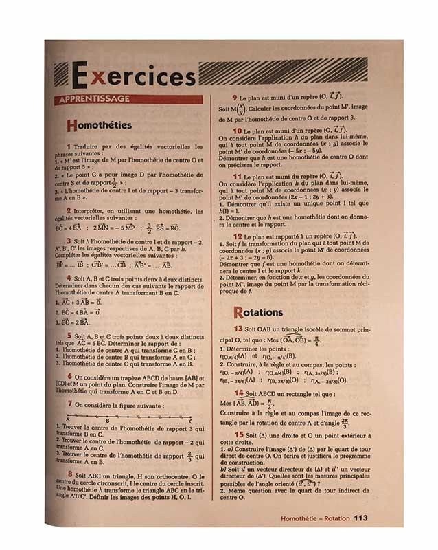Mathématiques 2e S   Version française   Edition EDICEF   Relié 223 pages