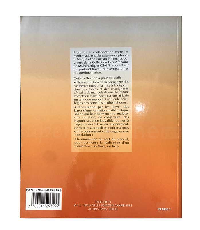 Mathématiques 1ère SM | Version française | Edition EDICEF | Relié 320 pages back