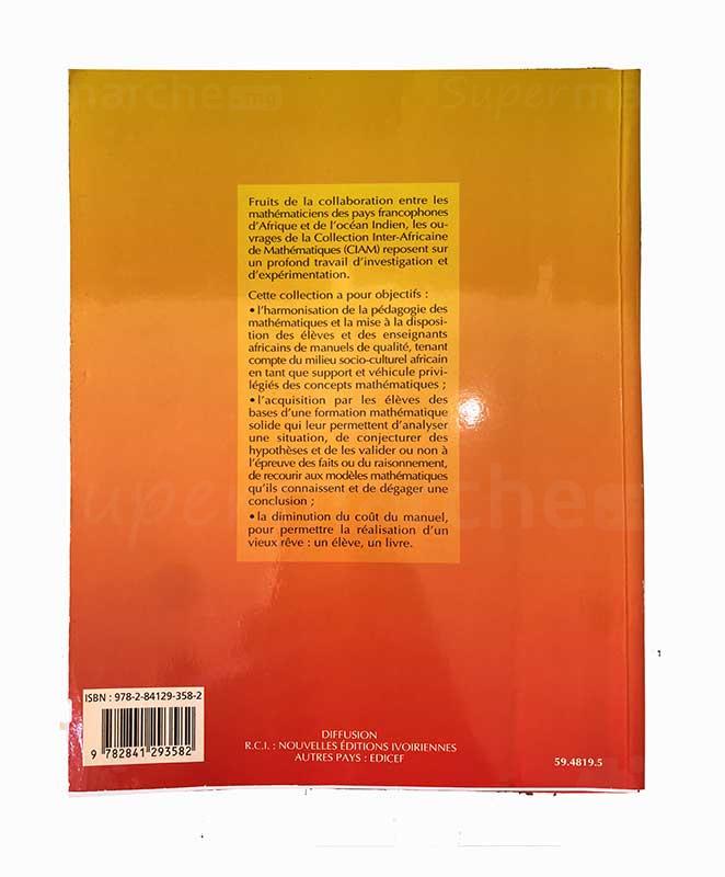 Mathématiques 1ère SE   Version française   Edition EDICEF   Relié 288 pages back