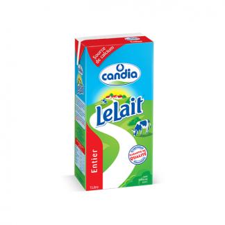 Lait Entier en Brique Candia 1L | Source naturelle de calcium