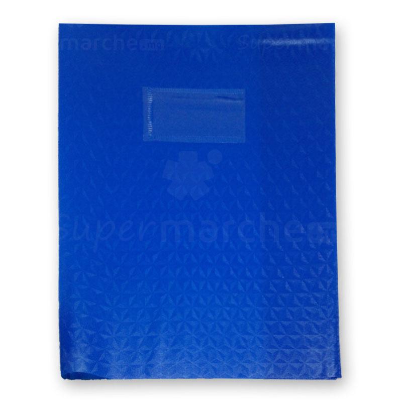 protège cahier bleu