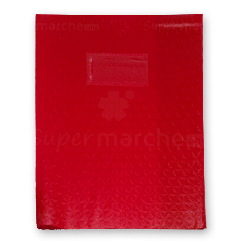 protège cahier rouge