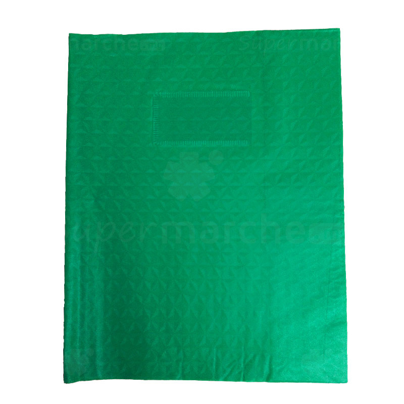 protège cahier vert