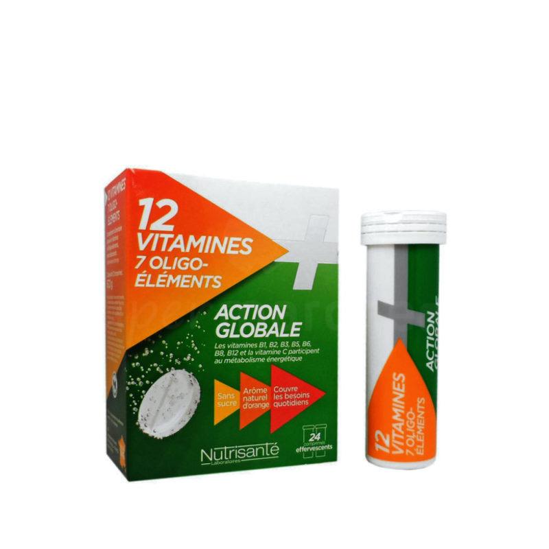 12 vitamines et 7 oligo éléments