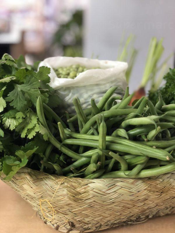 panier legume haricot vert
