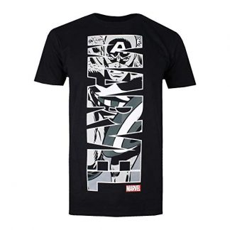 T-shirt Captain America Vertical | Marvel | noir - M