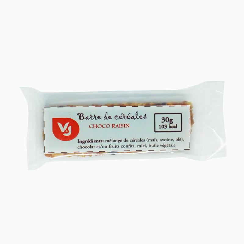 Barre cereales choco raisin 30g