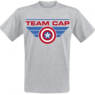 T-shirt Team Captain America | Marvel | gris – S