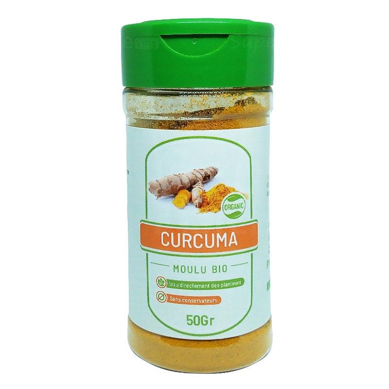 Curcuma-moulu-bio