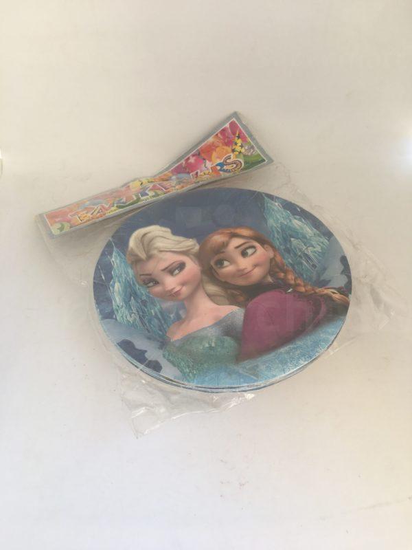 Assiette d'anniversaire ronde la reine des neiges