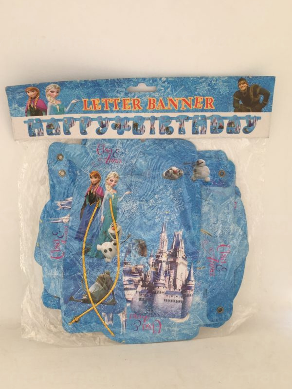 lettre banner la reine des neiges