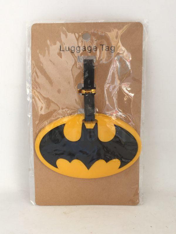etiquette de bagage logo batman