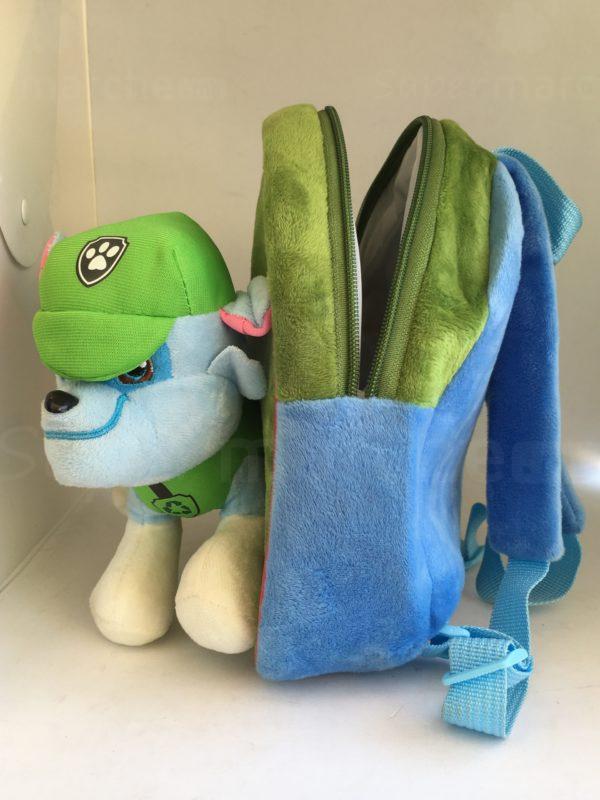 cartable peluche paw patrol bleu et vert 4