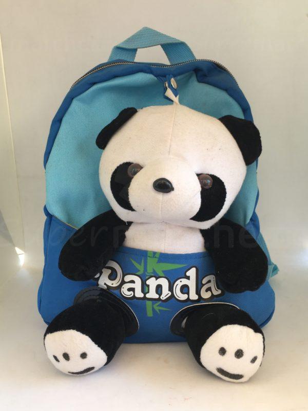 cartable peluche panda bleu 1