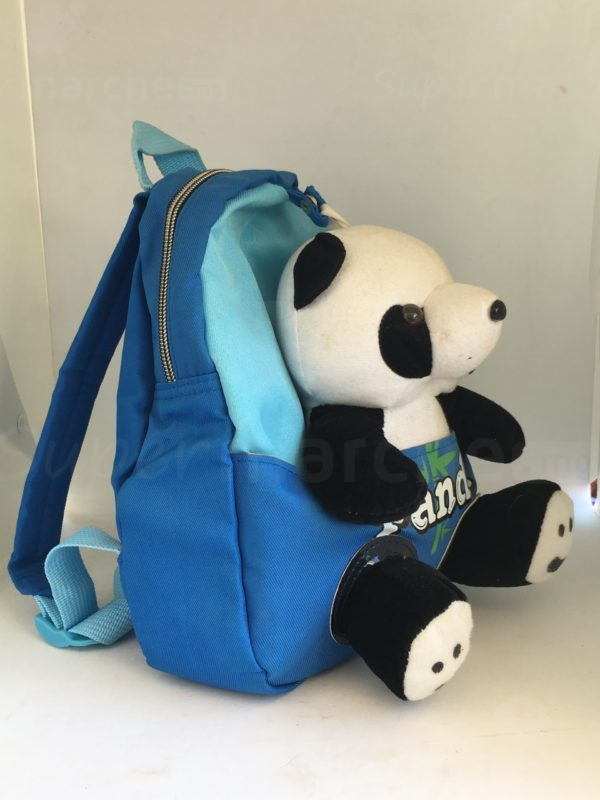 cartable peluche panda bleu 2