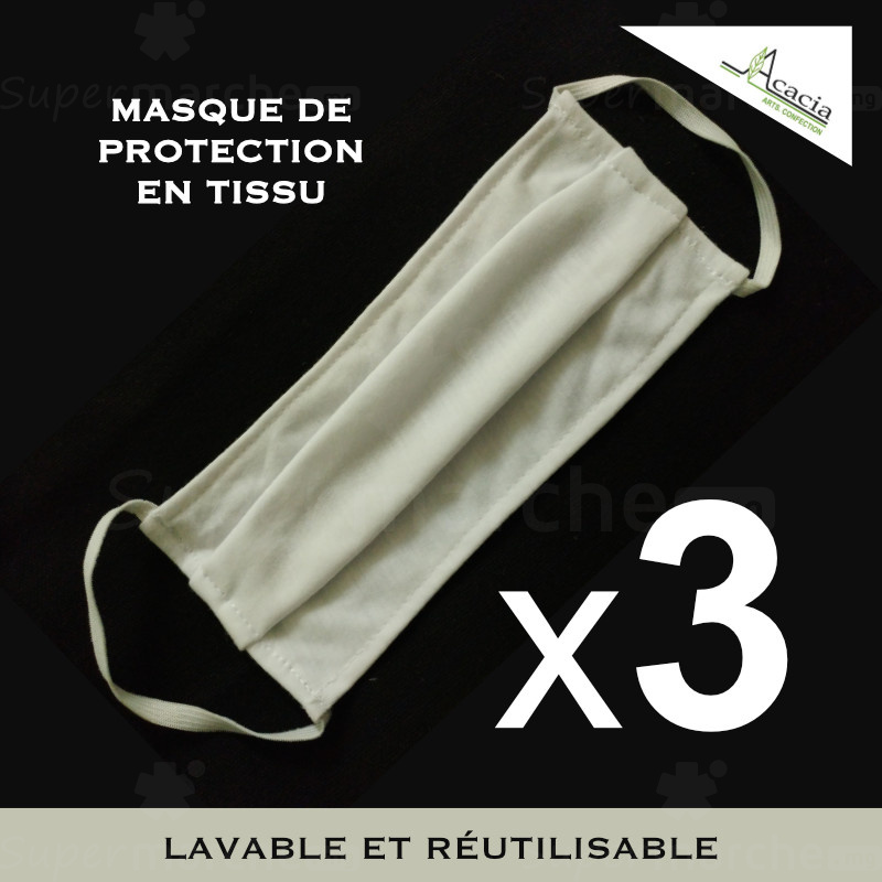 lot de 3 masques protection acacia x3
