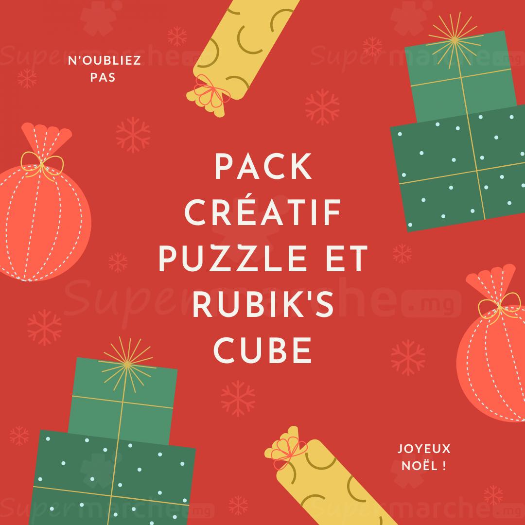 pack créatif puzzle et rubik's cube