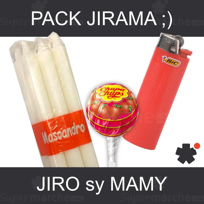 pack jirama bougie briquet sucette