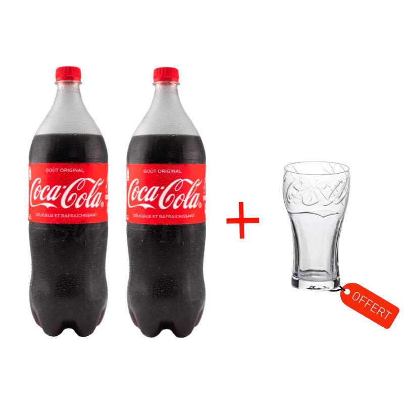 pack 2 coca 1 verre offert