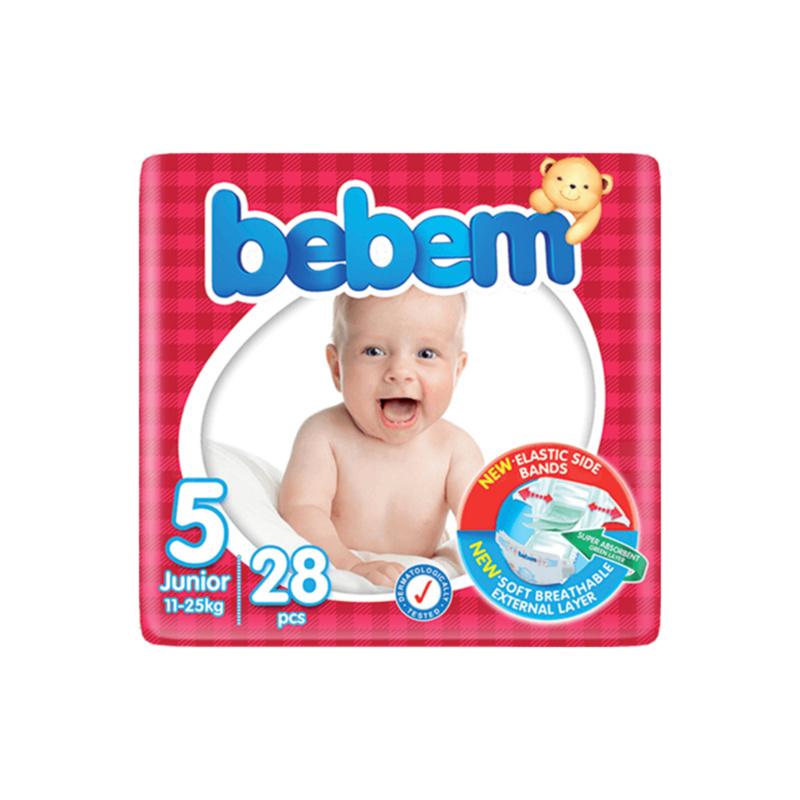 couche bebem 5 junior 11 à 25kg – 28 pièces
